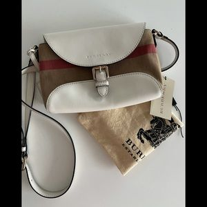 BURBERRY Canvas House Check Small Crossbody bag